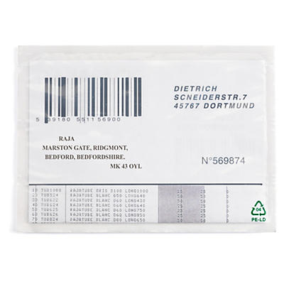 Rajalist green document enclosed envelope labels, plain