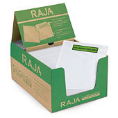 Rajalist green document enclosed envelope labels, printed