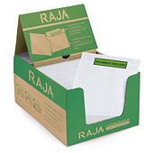 Rajalist green document enclosed envelope labels, printed