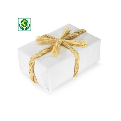 Raphia naturel pour emballage cadeau