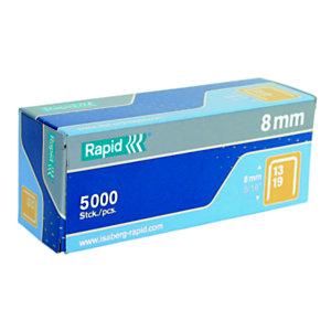 Rapid Agrafes N° 13 High Performance™(13/8), fil d'acier galvanisé, pattes de 8 mm de long, boîte de 5 000