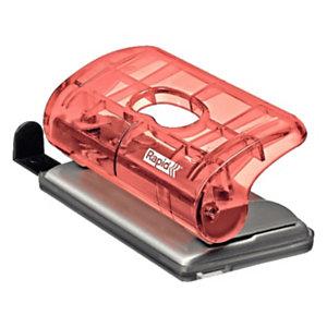 Rapid BabyRay FC5 Mini perforatore a 2 fori Colour'Ice, Capacità 10 fogli, Albicocca traslucido