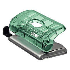 Rapid BabyRay FC5 Mini perforatore a 2 fori Colour'Ice, Capacità 10 fogli, Verde traslucido