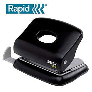 Rapid Eco perforateur 2 trous, 20 feuilles - Métal/ ABS, Noir