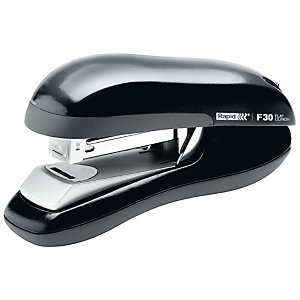 Rapid FlatClinch F30 Grapadora de escritorio, 30 hojas de 80g, metal, negra