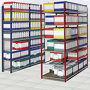 Rayonnage archives Archiva - Simple face - L. 103 x P. 35 cm - Elément Départ - Bleu