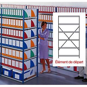 Rayonnage archives évolutif double face élément de départ - largeur 1,5 m