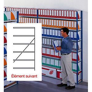Rayonnage archives évolutif elément suivant simple face - largeur 100 cm