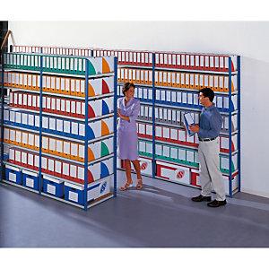 Rayonnage archives évolutif elément suivant simple face - largeur 150 cm