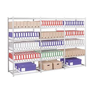 Rayonnage Archives Galvanisé – H. 200 x L. 100 x P. 70 cm- Elément Départ
