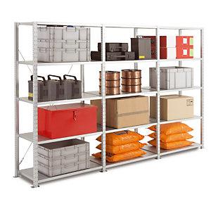 Rayonnage Atelier galvanisé-H.200 x L.125 X P.50 cm-Elément Départ