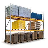 Rayonnage d'extérieur en acier époxy et galvanisé modulable à palettes