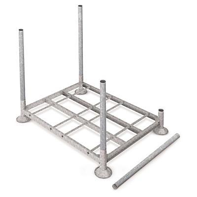 Rayonnage d'extérieur modulable à rehausses en acier galvanisé