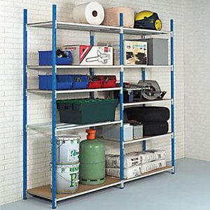 Rayonnage industriel Easy Clip 250 - Polyvalent - H. 200 x L. 100 x P. 50 cm - Elément Suivant