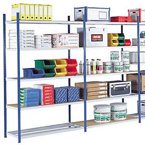 Rayonnage industriel Multi Rack - Polyvalent - H. 200 x L. 100 x P. 60 cm - Elément Suivant - Bleu