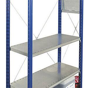 Rayonnage industriel Tôlé 200 - Galvanisé - P. 40 cm  - A tablettes pleines - Elément Départ