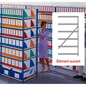 Rayonnages archives évolutifs double face élément suivant - largeur 1,5 m