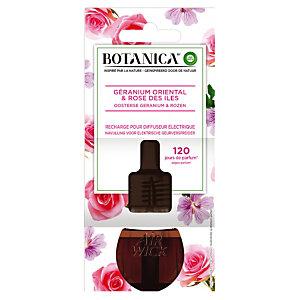 Recharge pour diffuseur électrique Botanica, parfum Rose des Iles & Géranium Oriental, flacon de 19 ml