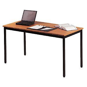 Rechthoekige tafel 180 x 80 cm beuk legblad / zwarte poten