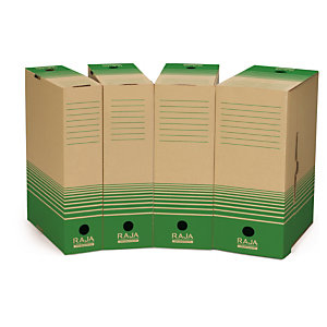 Recycled cardboard archive box folders - a clean-cut way to organise your home office