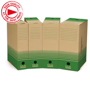 Raja recycled cardboard archive box folders | Rajapack