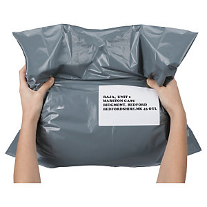 Recycled polyethylene mailing bags are versatile and moisture-proof
