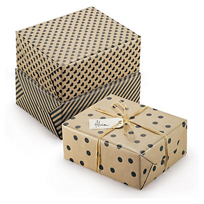 Papier cadeau 100 % recyclé Retro##Recycling-Geschenkpapiere Retro