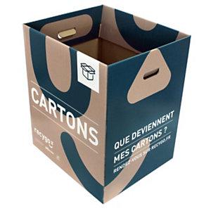 recygo ECOBOX boîte de collecte pour le tri et recyclage des emballages cartons
