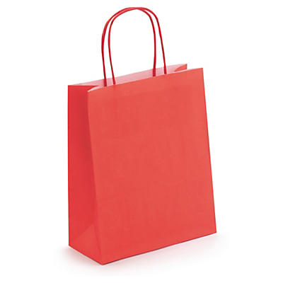 Red mini Kraft bags