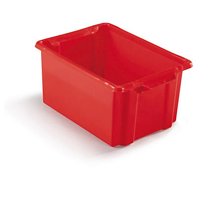 Red stack and store plastic containers