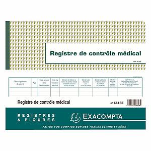 Registre de contrôle médical Exacompta 6618 E Format 24 x 32 cm