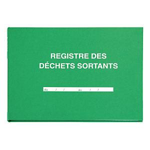 """Registre spécialisé """"Déchets sortants"""" 21 x 29,7 cm 108 pages"""