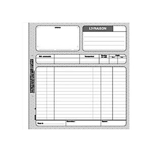 REGISTRES LE DAUPHIN Carnet de bons de livraison Manifold, deux exemplaires, 50 feuilles sans carbone, 210 x 210 mm