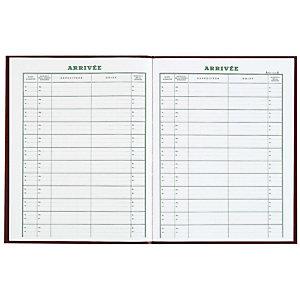 REGISTRES LE DAUPHIN Registre Courrier arrivée - 32 x 24 cm, 160 pages - Rouge