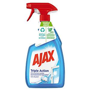 Reiniger drievoudige werking voor ruiten en oppervlakken Ajax, verstuiver van 750 ml