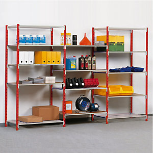 Rek Auto-clip 250 kg, breedte 100 cm, basiselement rood