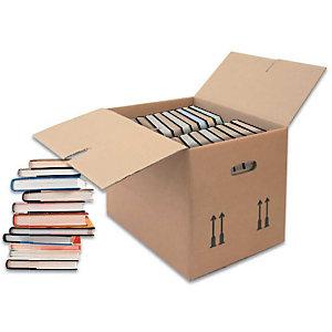 REKA 10 Cartons pour livres, brun