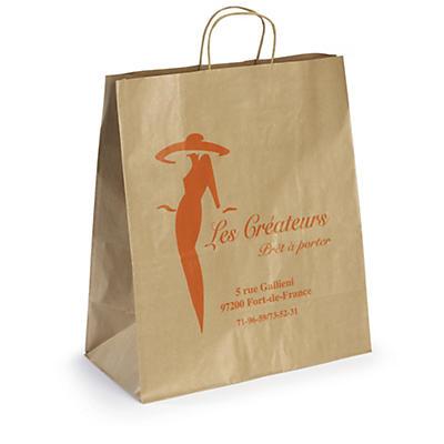 Reklamné papierové tašky s potlačou a papierovým motúzom