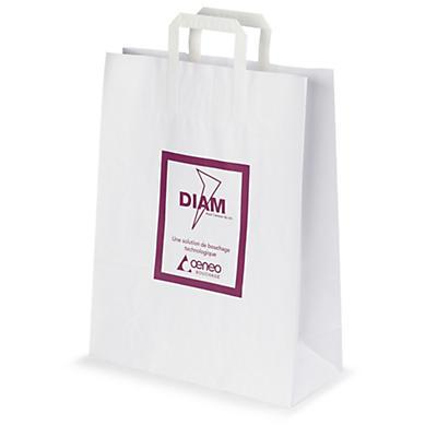Reklamné papierové tašky s potlačou a papierovými uškami