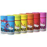 Renova Maxi Red, papier toilette couleur en maxi rouleaux, triple épaisseur, 180 feuilles, 6 coloris panachés