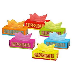 Renova Mouchoirs en papier RedLabel, 80mouchoirs, bleu, vert, orange et violet