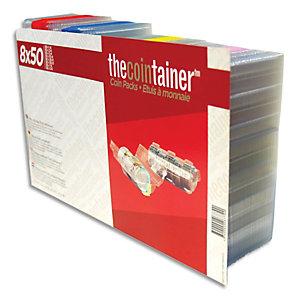 RESKAL Boîte de 400 étuis à monnaie THE COINTAINER panachés (50 étuis de chaque modèles) FA62264