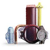 Rete tubolare in plastica colorata
