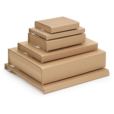 Returnable wraparound media boxes
