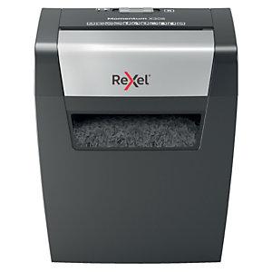 Rexel Momentum X308, Distruggi documenti taglio a frammenti, 8 fogli, 15 l, Distrugge graffette, punti metallici