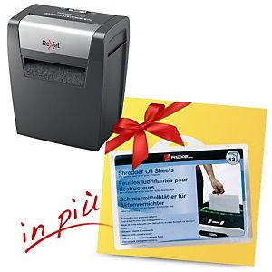 Rexel Offerta Distruggi documenti con taglio a frammenti Momentum X406 + 12 fogli lubrificanti compresi nel prezzo