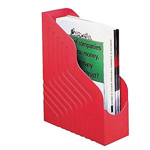 REXEL Portariviste Magazine Rack Jumbo - 25x32 cm - dorso 10 cm - rosso - Rexel