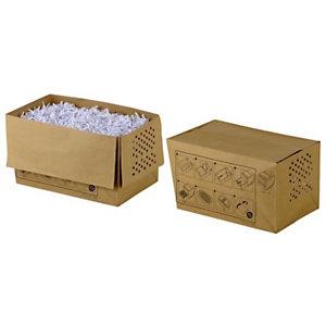 Rexel Sacs en papier recyclé pour destructeurs de documents, 34 l, marron