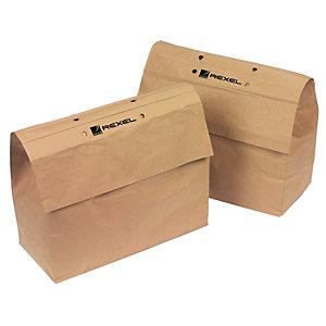 Rexel Sacs en papier recyclé pour destructeurs de documents, 70 l, marron