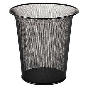 Rexel Wire, Papelera de oficina, malla metálica, 16 l, negro